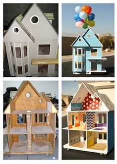 sweet, brightly colored dollhouse renovation for a little girl