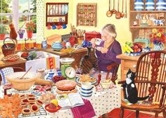 """Baking Day""  Artist, Tracy Hall  ©"