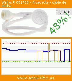Wellys R 051750 - Alcachofa y cable de ducha (Salud y Belleza). Baja 48%! Precio actual 9,16 €, el precio anterior fue de 17,63 €. https://www.adquisitio.es/wellys/r-051750-alcachofa-y