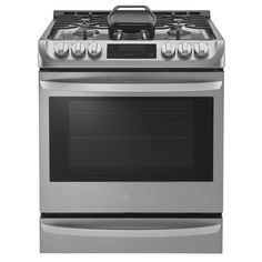 Complete your kitchen with this modern LG 30-inch slide-in gas range with 5 sealed burners. Featuring a stainless steel finish that will complement any interior decor, this gas range measures 29.88 in