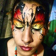 "Face painting ""Butterfly"" Carmen MacDonald ,Los Angeles CA"