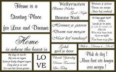Mooie teksten voor muur stickers, deze zijn allemaal verkrijgbaar in onze webshop :)