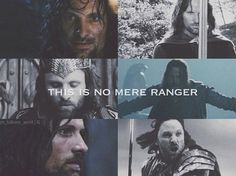 The picture of Aragorn coming through the doorway at Helm's Deep reminds me of the' Come at me, bro!' thing.