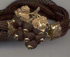 Victorian Memento Mori hair bracelet.