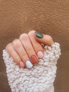 Cute Nails, Pretty Nails, Cute Acrylic Nails, Cute Simple Nails, Cute Nail Colors, Gel Nail Colors, Simple Gel Nails, Pretty Short Nails, Short Gel Nails