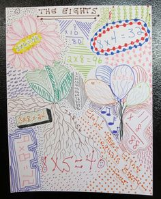 Cool idea for helping kids memorize their math facts. art journal