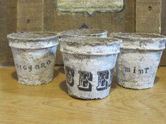 Okio B Designs: Dressed Up Seed Peat Pots