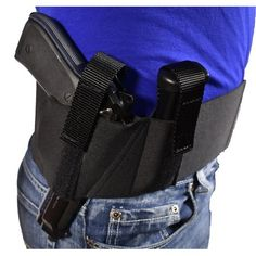 Blue Stone Safety Products Original Belly Band Holster, Concealed Carry Belly Band,Belly Band Gun Holster, Glock 17, Glock 19, Glock 21,Glock 26, Glock 42,Sig p226, B92fs ,Right Hand, Large (36 inch-40 inch), Black