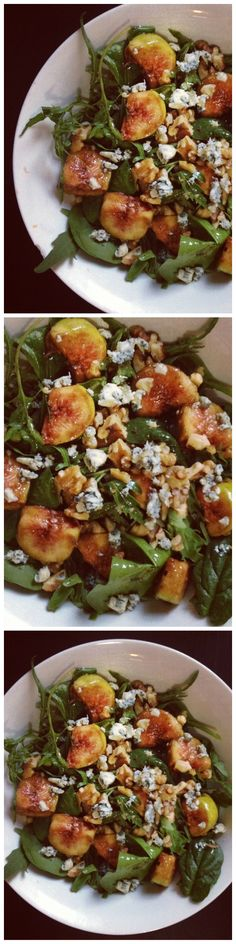 Fall in Love with this healthy Marinated Fig Salad with Blue Cheese and Walnuts