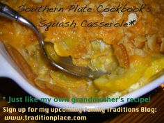 Please sign up for my upcoming website--a place to find and share family traditions! www.traditionplace.com  Click photo for @Christy Polek Jordan's Southern Plate recipe, which is just like MY grandmother's!