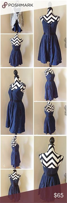 Moulinette Soeurs Navy Classic Perfect Fit Dress Great Condition. No stains, No rips, No holes. Feel free to ask questions or make an offer. Measurements to come. 🚫NO TRADES🚫 Anthropologie Dresses
