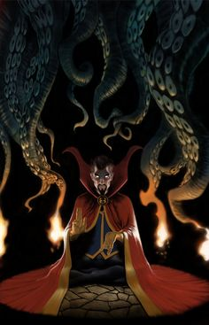 How spectacular would this be shot on film? Picture a dark room, the octopus tentacles slowly swaying / dangling from the ceiling, as the camera rotates around Doctor Strange with the tentacles occasionally disrupting the frame. And an eyrie woman's voice going ahhhhhhhhhhhhh ahhhh ahhhhhhhh ahhhhhh as he does weird, powerful things with his hands and his eyes glow like in this an just.... MARVEL I WANTED TO DIRECT THIS MOVIE!!!