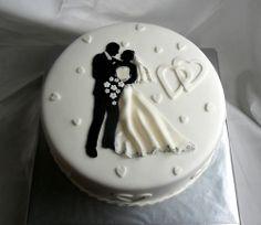 Que bonito y sencillo pastel de bodas!!!!!