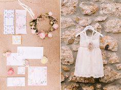 Floral βάπτιση κοριτσιού σε ροζ και χρυσές αποχρώσεις - EverAfter Girls Dresses, Flower Girl Dresses, Pink And Gold, Wedding Dresses, Floral, Party, Flowers, Dresses Of Girls, Bride Dresses
