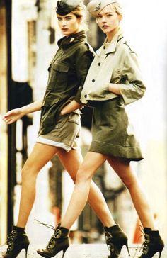 mode : style militaire, kaki