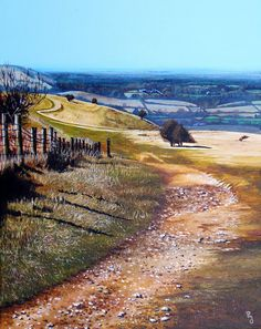 "ORIGINAL ART by Paula Oakley: Painting ""The South Downs Way"""