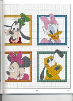 Mickey Collection~pg 55 Color Blocks 2