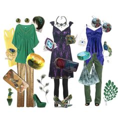 Peacock-inspired outfits