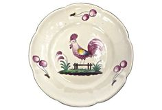 Country French Rooster Ceramic Plate