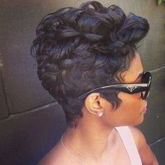 Stylish Pixie Cut Curly Hair