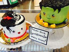 Frankenstien and bride Halloween cakes