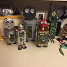 Robots that I am working on and have finished, get your on of kind unique creation today for that special someone or as a unique Christmas gift they won't forget!