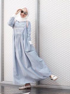 Image about fashion in amiroh look by اميراة on We Heart It - hijab, hootd, and muslim image Street Hijab Fashion, Abaya Fashion, Modest Fashion, Fashion Outfits, Women's Fashion, Fashion Trends, Casual Hijab Outfit, Hijab Chic, Modest Wear