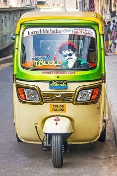 The Rajinikanth Auto Rickshaw , India Chennai, Amazing India, Truck Art, South India, India Travel, Sri Lanka, Pakistan, Transportation, The Incredibles