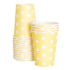 Yellow Stripe Cups $5.95
