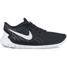 Nike Lace Up Sneakers - Women's Free 5.0 ($60) ❤ liked on Polyvore featuring shoes, nike, black, laced up shoes, black shoes, black laced shoes, kohl shoes and lace up shoes