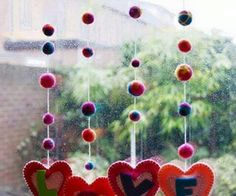 Do You Need Ideas For An Amazing DIY Valentine's Day Crafts For Kids In Your Home? Valentine's Day Crafts For Kids, Fun Crafts, Diy And Crafts, Valentine Day Love, Valentine Day Crafts, Mobiles, Felt Hearts, Valentine's Day Diy, Diy Projects To Try