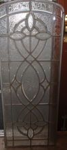 One of a pair of beveled ice chip stained glass windows, Shop Rubylane.com