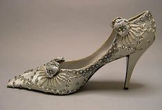 Evening shoes  House of Dior  (French, founded 1947)  Designer: Roger Vivier (French, 1913–1998) Date: 1957