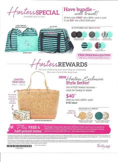 June hostess special! Book your party: www.mythirtyone.com/robinjunee