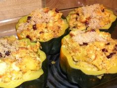 From The Hive: fall meal- apple kuchen and stuffed acorn squash
