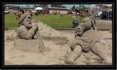 Sand Sculption festival, Long Beach, WA