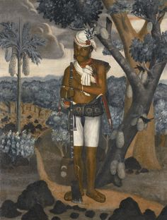 A SEPOY WITH MUSKET, INDO-PORTUGUESE, GOA, LATE 18TH CENTURY - Oil on canvas, framed, 65.3 by 49.8cm. - Lot | Sotheby's