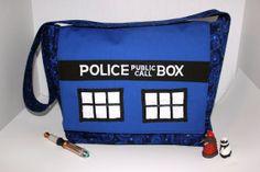 Doctor Who Large Boxy TARDIS Messenger Bag by BadWolfStudio, $89.99