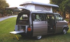 YES, YES, YES!!! This is what we are looking for!! Coolest van ever, a VW Eurovan...  So this is the California edition. Only sold in UK. Why not bring this back to the USA?
