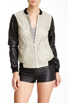 Andrew Marc Mesh Leather Jacket - $189.97