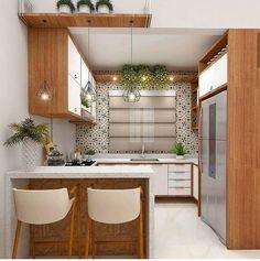 35 suprising small kitchen design ideas and decor 20 - Kitchen Furniture Kitchen Room Design, Best Kitchen Designs, Kitchen Sets, Modern Kitchen Design, Home Decor Kitchen, Interior Design Kitchen, Kitchen Furniture, Home Kitchens, Small Kitchens