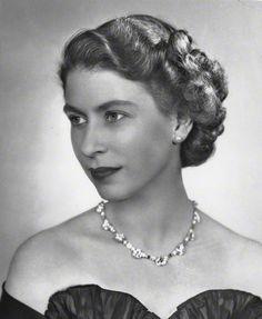 """Queen Elizabeth II, wearing her """"best diamonds""""  portrait by Dorothy Wilding"""