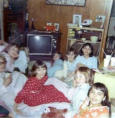 typical Slumber Party of my childhood. My Childhood Memories, Sweet Memories, 80s Kids, My Youth, Slumber Parties, My Memory, Up Girl, The Good Old Days, Back In The Day