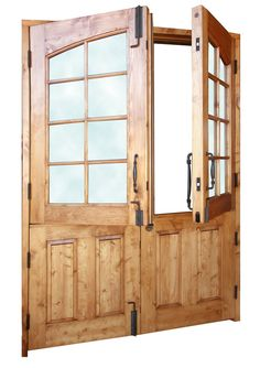 After classic styled 34 fiberglass double dutch entry - Exterior french doors with pet door ...