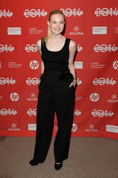 "Actress Elle Fanning attends the premiere of ""Young Ones"" at the Eccles Center Theatre during the 2014 Sundance Film Festival on January 18,..."