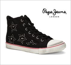 "#Trainers #Shoes #PepeJeans Junior Dubstep 290 ""Black"""
