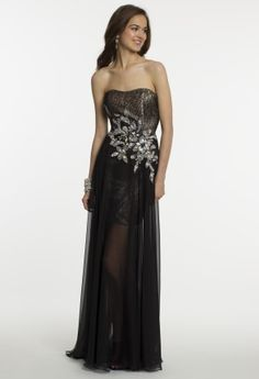 Long Short Sequined Chiffon Dress from Camille La Vie and Group USA Wedding Dress Prices, Wedding Dresses, Chiffon Dress, Strapless Dress Formal, Short Long Dresses, Gowns Online, Long Shorts, Homecoming Dresses, Pretty Dresses