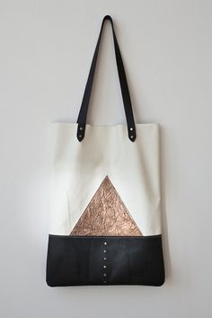 Copper Mountain Leather Tote bag No. TL- 4002 - Etsy - 77€