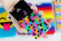 DIY Perler Bead Phone Cases | Karen Kavett