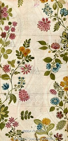 Textile design, by James Leman (1685-1745). Spitalfields, London, England, 1718.